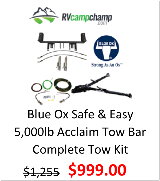 Blue Ox Acclaim 5k lb Tow Bar Towing Kit