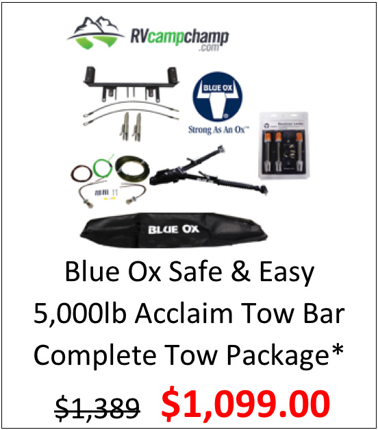 Blue Ox Acclaim 5k lb Tow Bar Complete Tow Package*