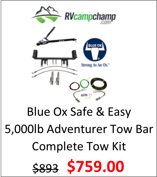 Blue Ox Adventurer 5k lb Tow Bar Towing Kit