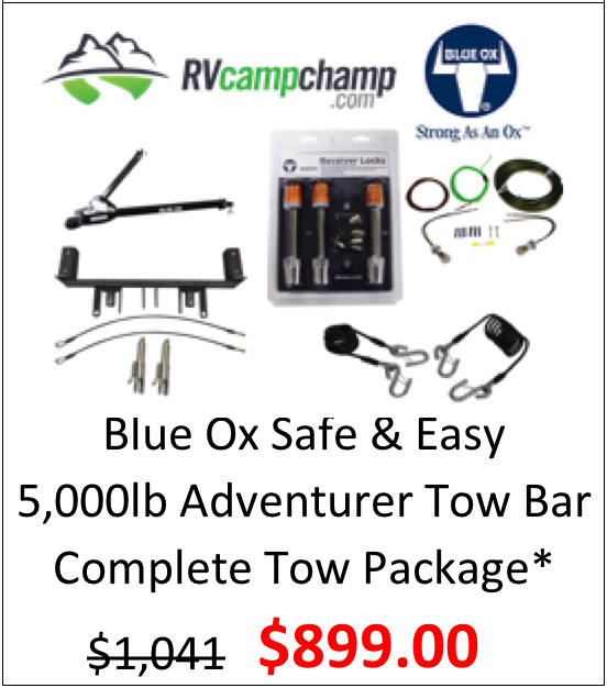 Blue Ox Adventurer 5k lb Tow Bar Complete Tow Package*